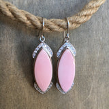 Pink Conch Sparkle Earrings