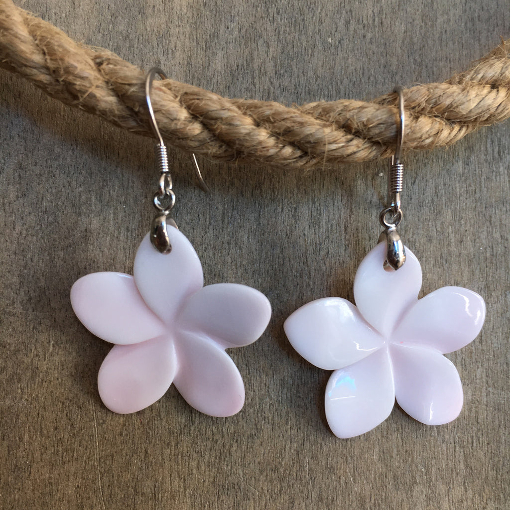 Pink Conch Flower Earrings