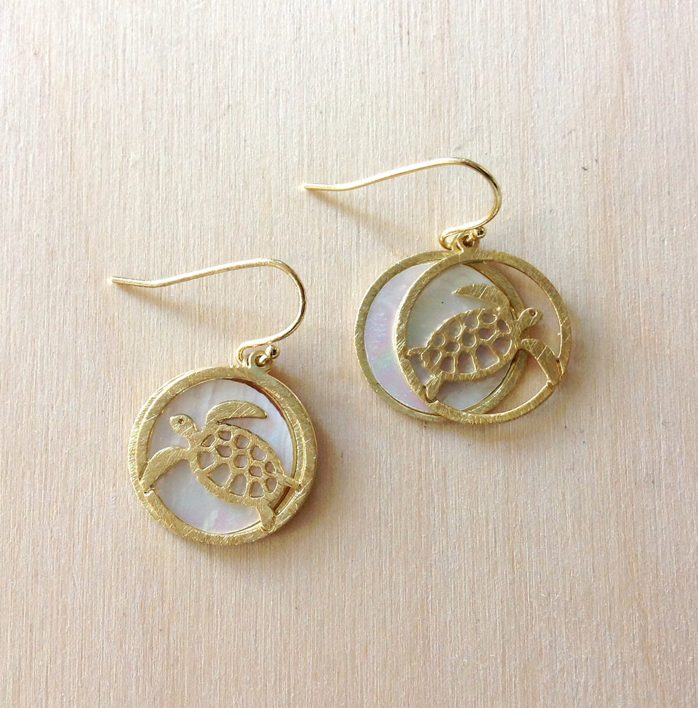 Ocean Medallion Earrings