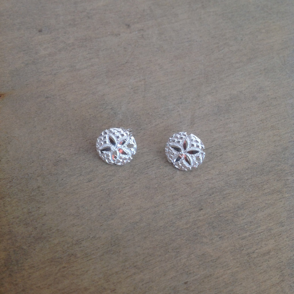 Sanddollar Stud Sterling Earrings