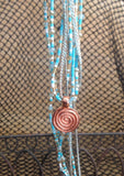 Copper Labrynth Swirl Necklace
