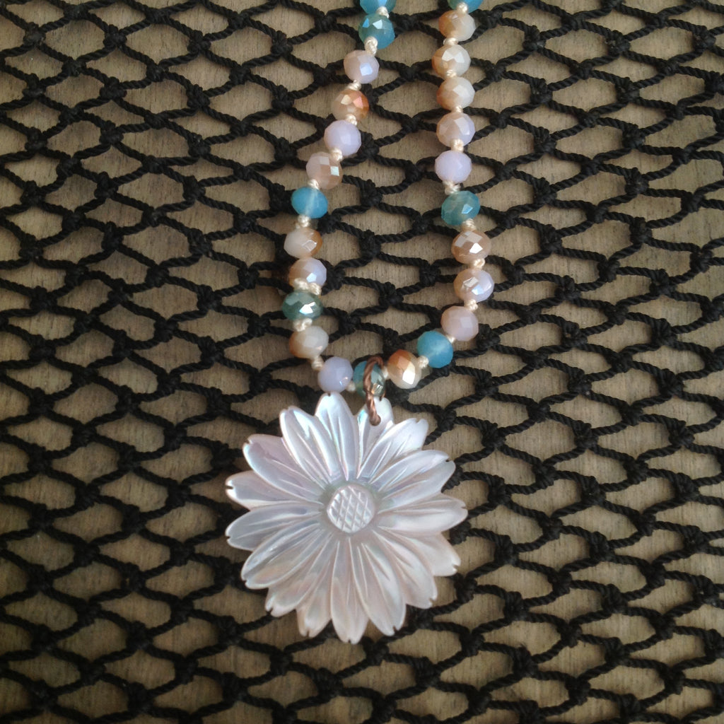Pearlescent Flower Necklace