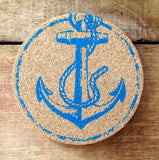 Nautical Cork Coaster Set of 8