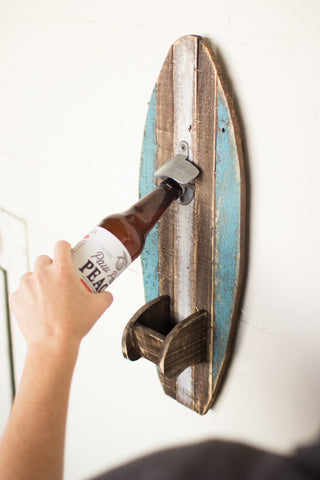 Surfboard Wall Bottle Opener