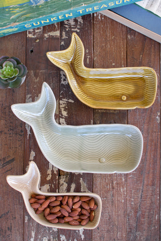 Ceramic Whale Platters