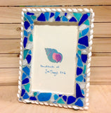 Sandy Sea Glass Photo Frame