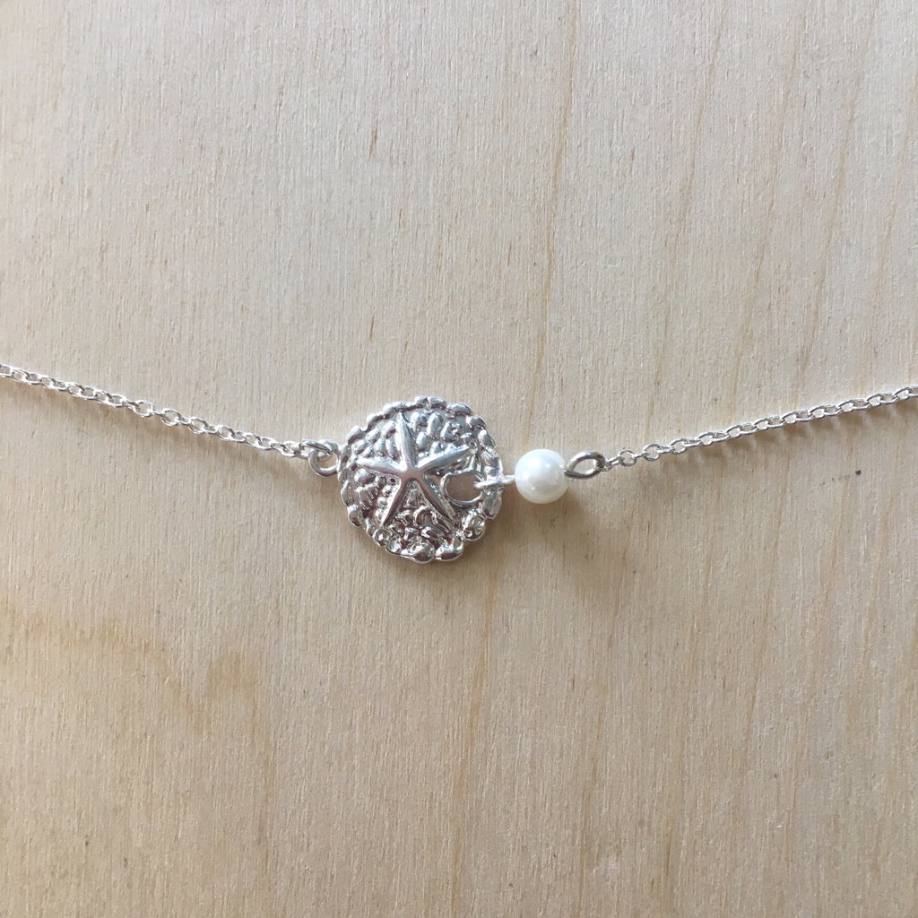 Sand Dollar Pearl Choker Necklace