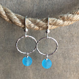 Circle Seaglass Hoop Earrings