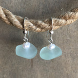 SeaFoam Seaglass Drop Earrings