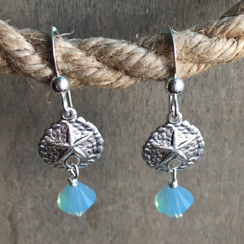 Sanddollar Crystal  Earrings
