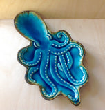 Blue Octopus Ceramic Tray