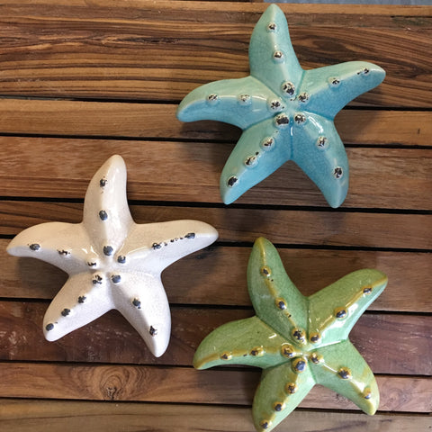 Ceramic Starfish Wall  Decor
