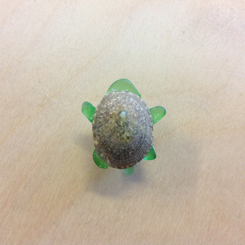 Seaglass Turtle Magnet