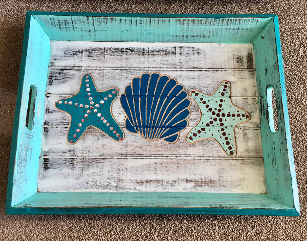 Seaside Wood Tray