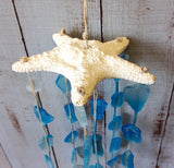 Blue Glass Starfish Windchime