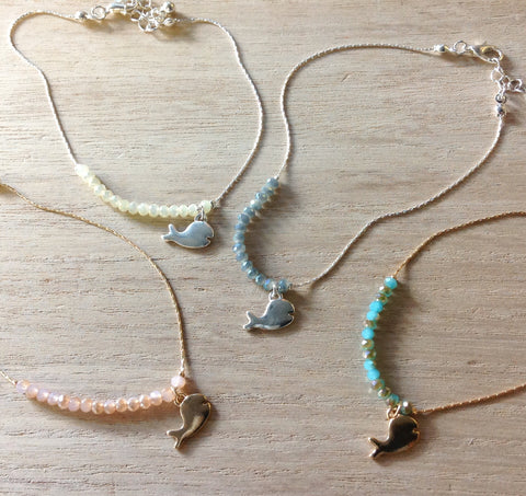 Crystal Whale Anklet