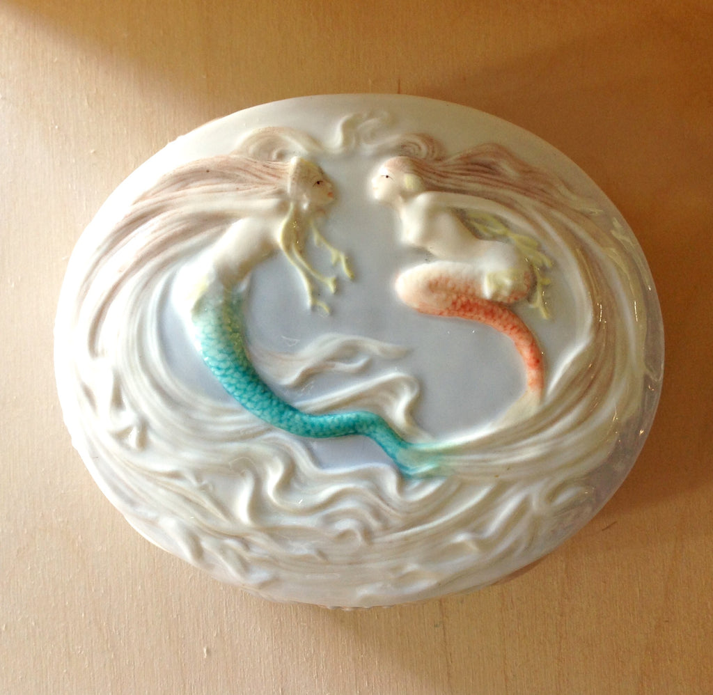 Swimming Mermaid Porcelain Box