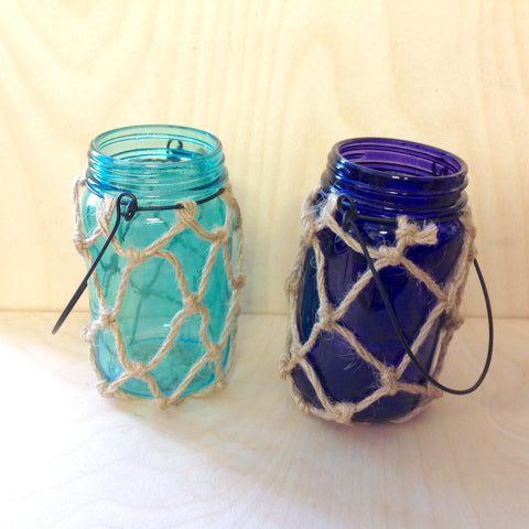 Rope Net Lantern Candle Holder