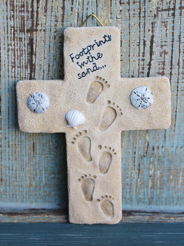Footprints Cross
