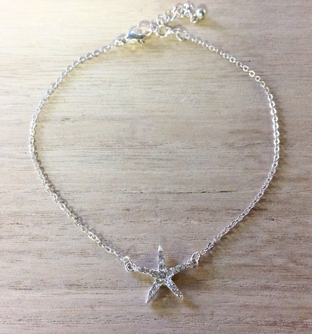 Jeweled Starfish Anklet