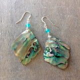 Mermaid's Tail Abalone Earrings