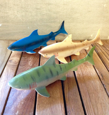"8"" Colorful Shark Toy"