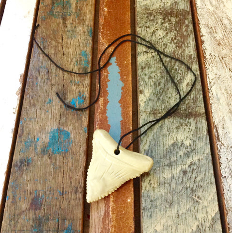 Rubber Shark Tooth Necklace