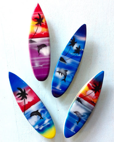 Sunset Beach Surfboard Magnet