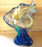 Wave Surfing Mermaid Sculpture