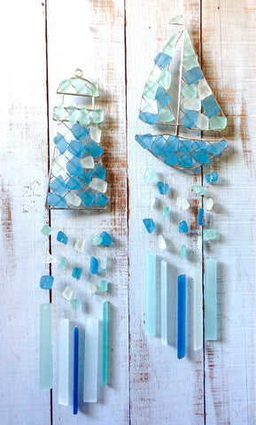 Coastal Sea Glass Windchimes
