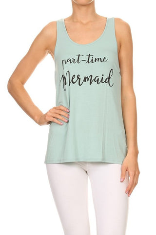 Part-Time Mermaid Tank Top