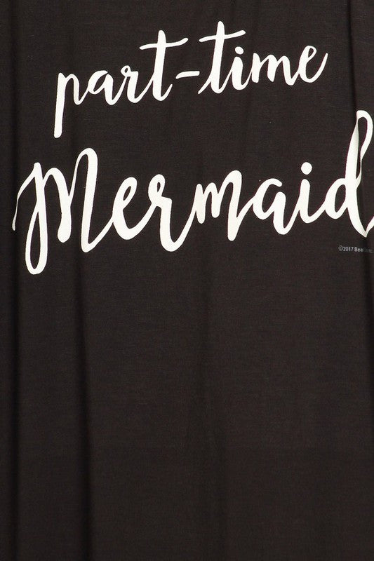 part time mermaid tank top