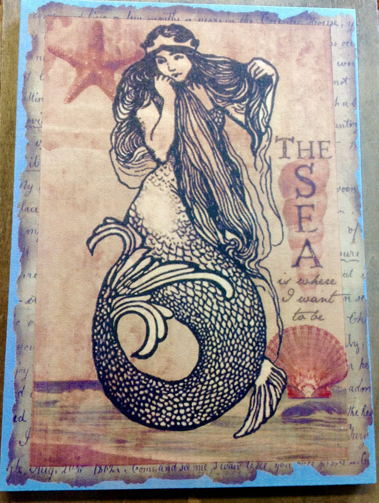 Mermaid Canvas Sign