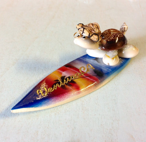 Airbrushed Surfing Turtle