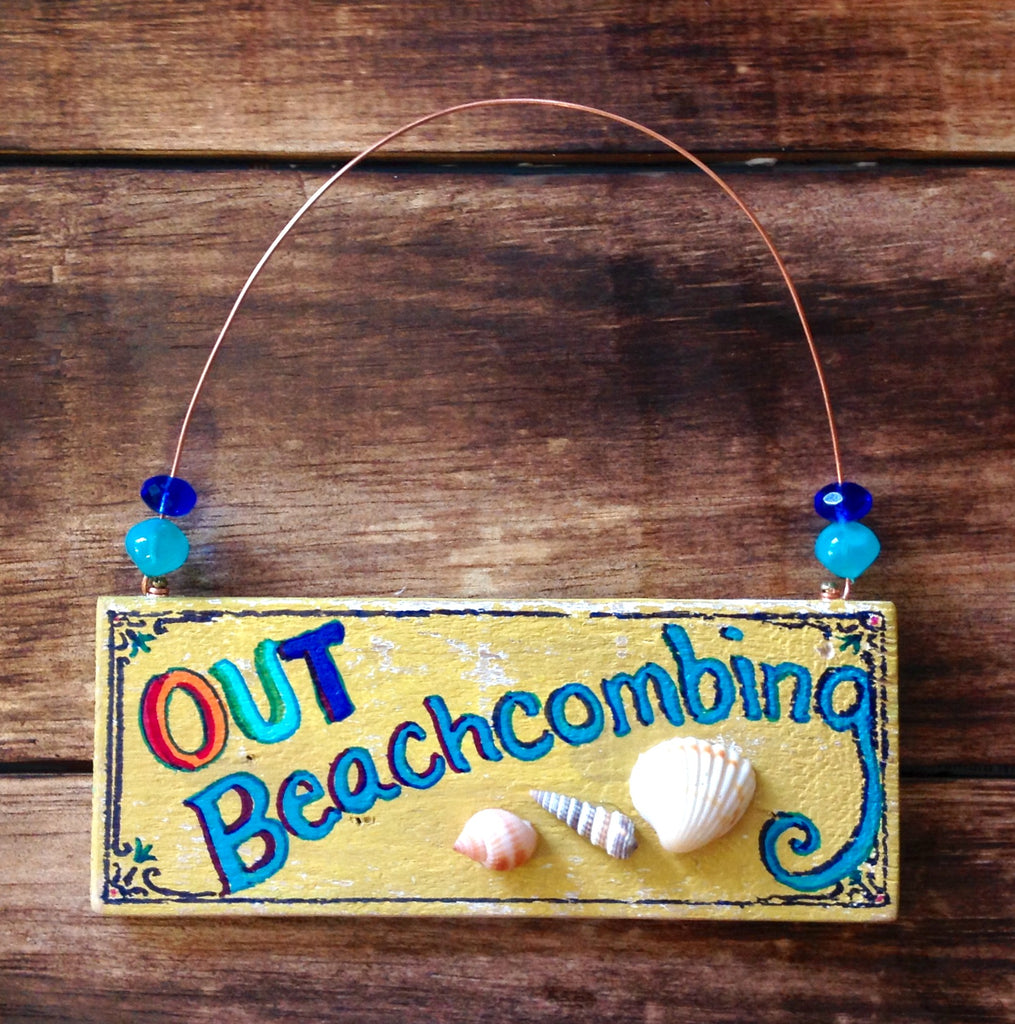 Door Knob Beach Sign