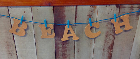 Cork Letter Beach Garland