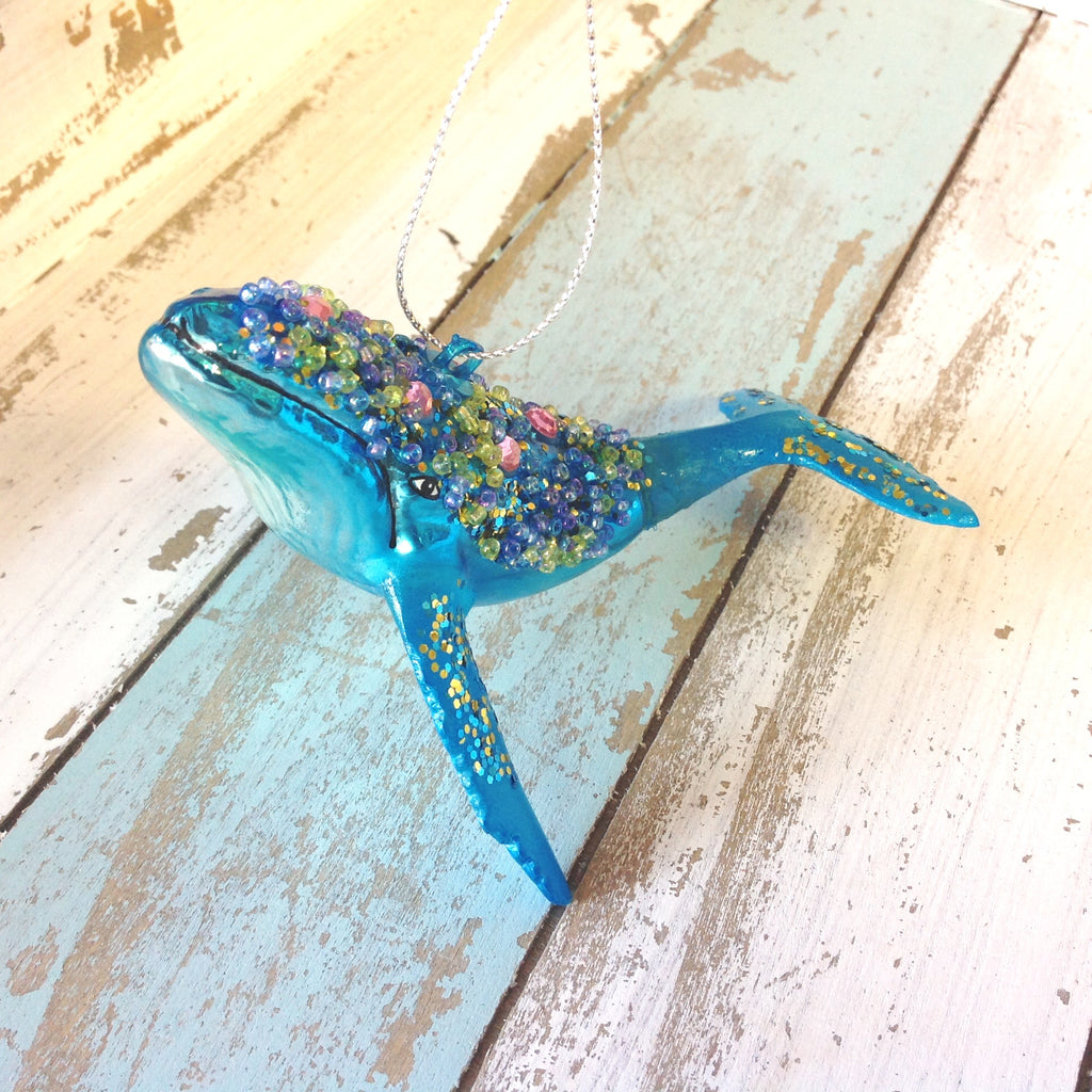 Beaded Whale Ornament