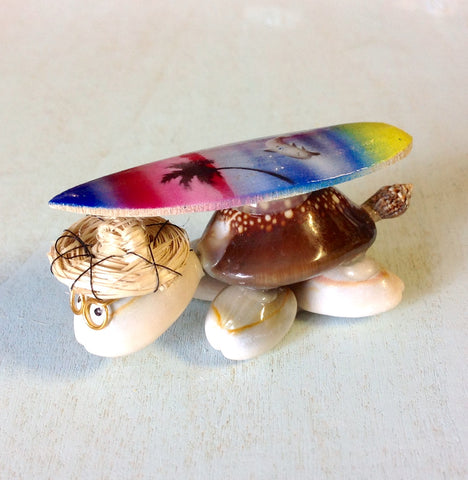 Airbrushed Surf Top Turtle