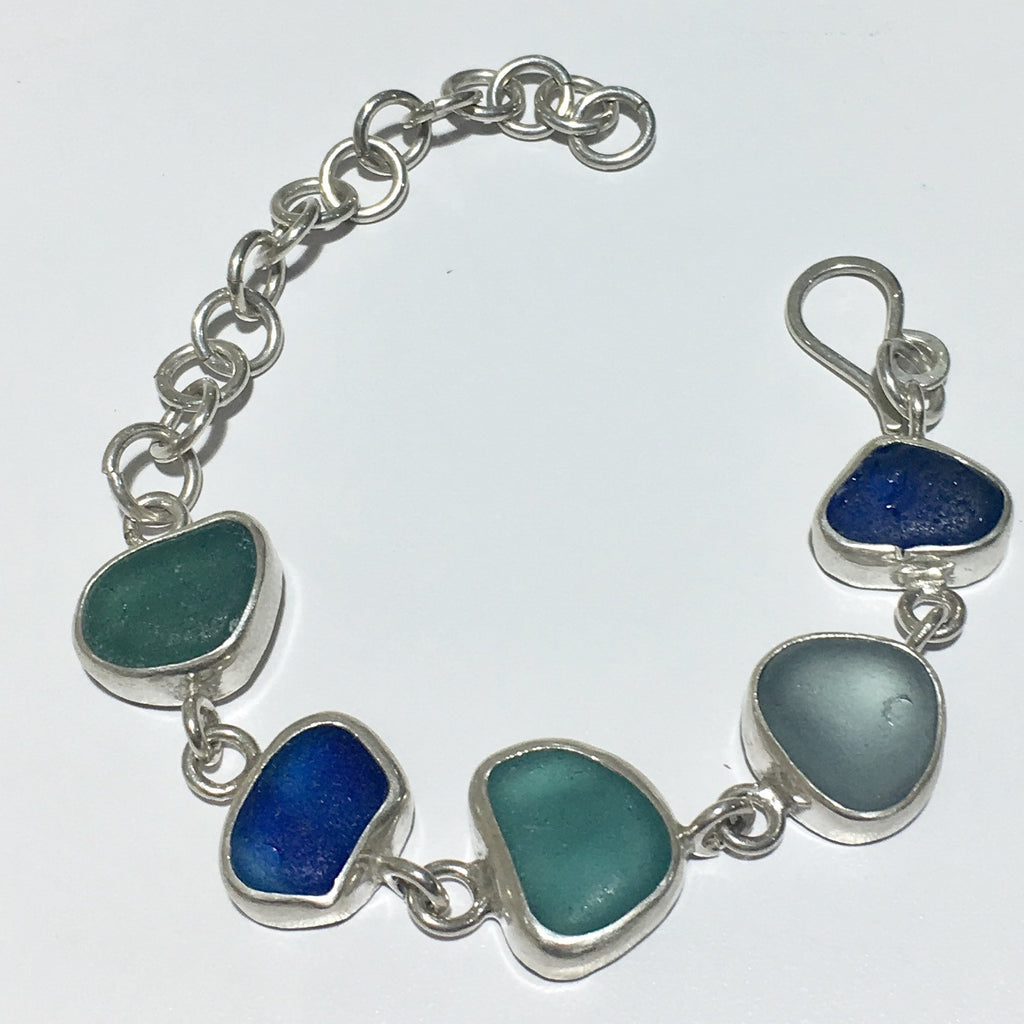 Natural Seaglass Bracelet