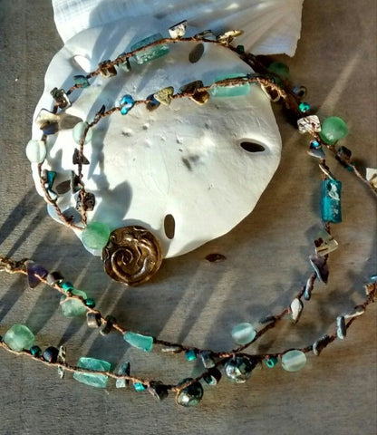 Mermaid Roman Glass Bead Necklace