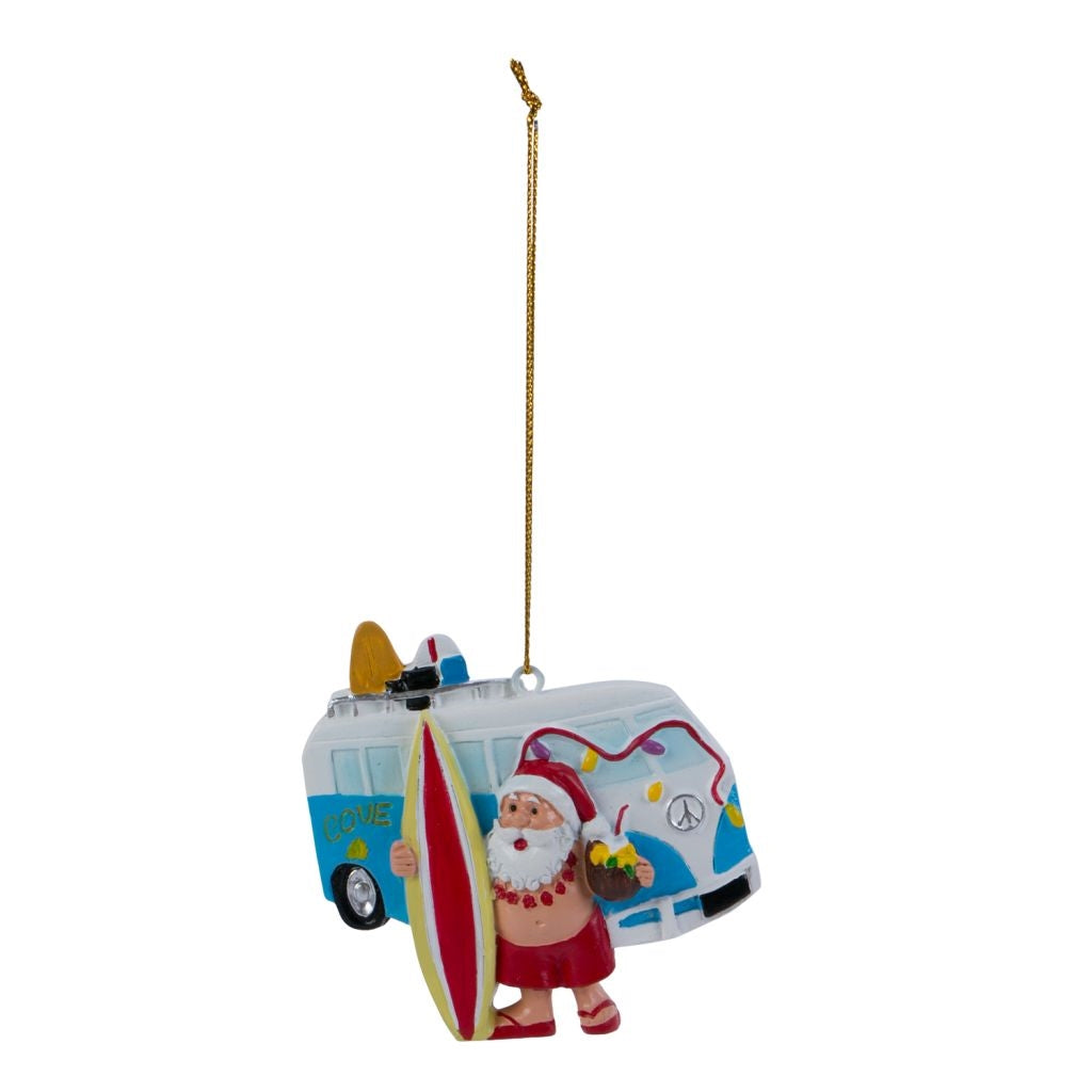 Santa VW Van Ornament