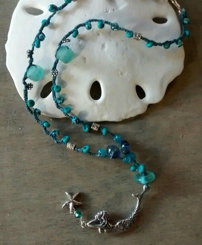 Sea Blue Mermaid Necklace