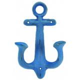 Blue Nautical Anchor Hook