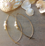 Sea Pearl Wire Earrings