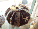 Nautical Seashell Harvest Pumpkin