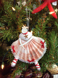 Seashell Ballerina Christmas Ornament