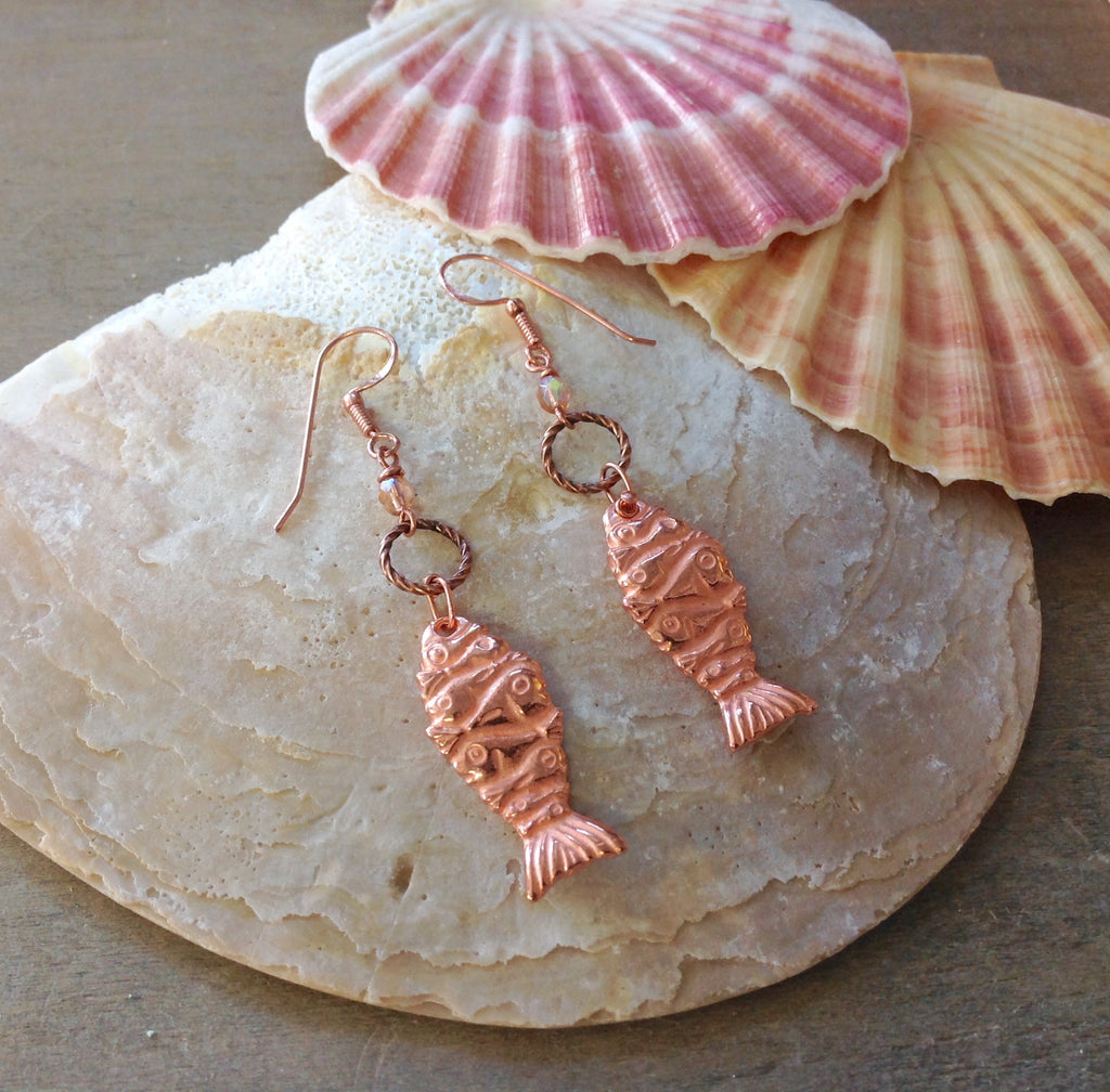 Aztec Fish Earrings