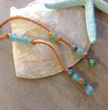 Leather Sea Patina Lariat