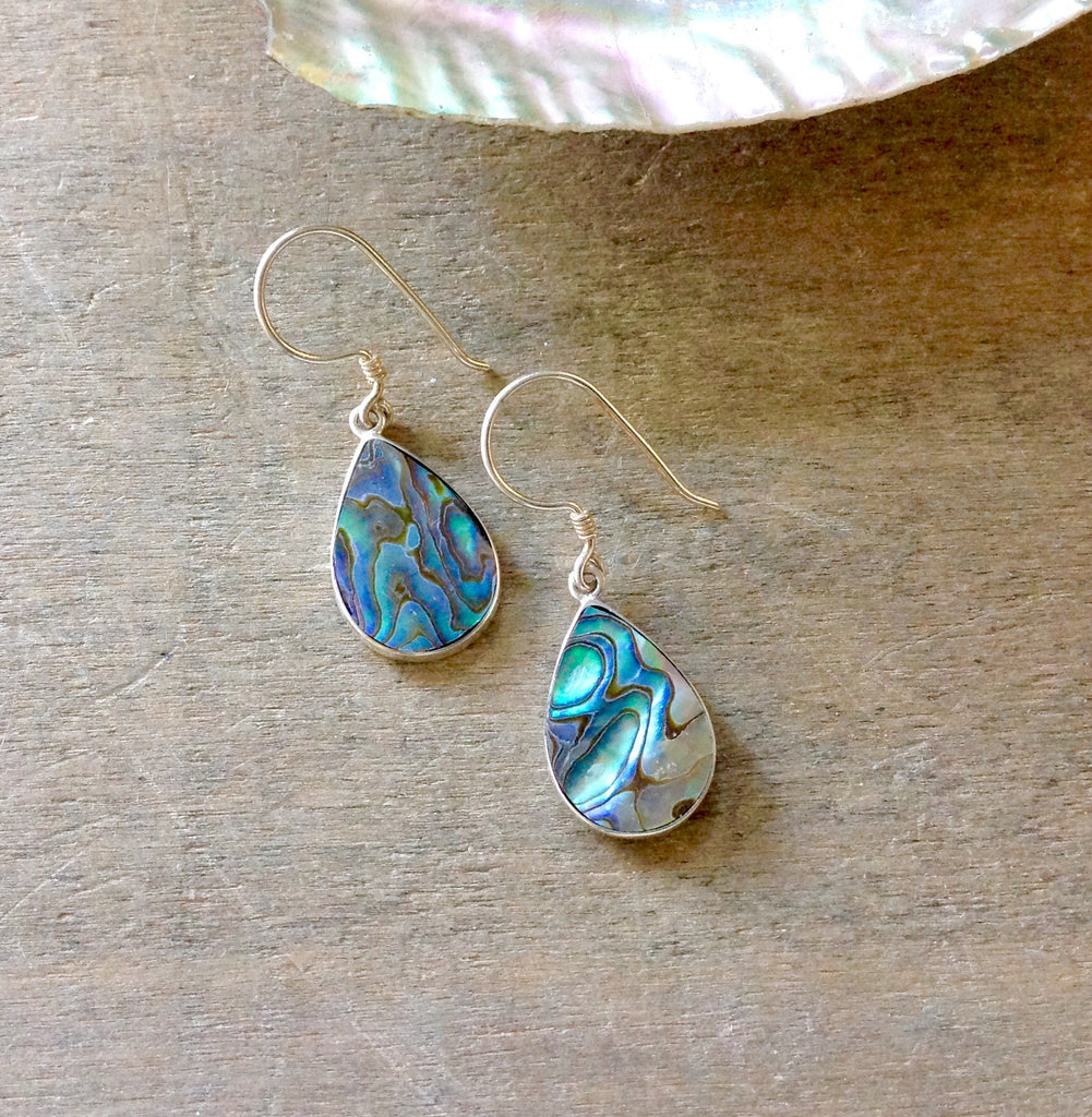 Abalone Simple Shape Earrings