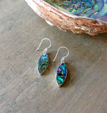Abalone Leaf Earrings